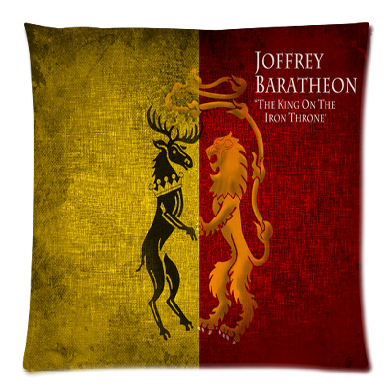 "Custom Game of Thrones Two Side Printing Cotton Linen Pillow Case 17.7""X17.7""(45 X 45CM)(China (Mainland))"