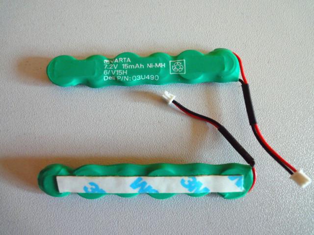 Original VARTA 6/V15H 7.2V 15mAh Ni-Mh Button Cell Battery with plug VARTA battery pack with plug free shipping(China (Mainland))