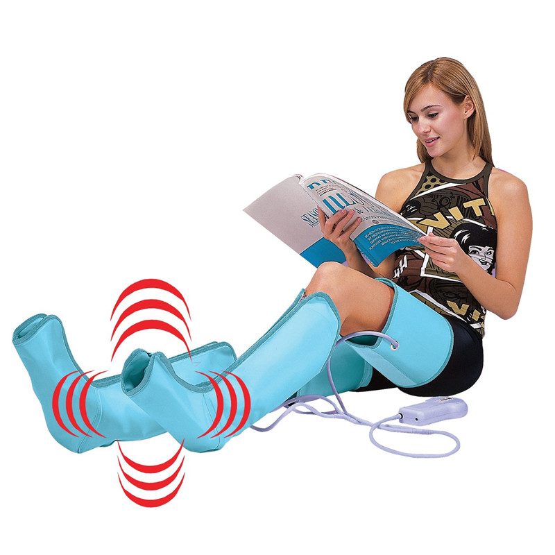 NEW Circulation Leg Wraps Healthcare Air Compression Leg Foot Massager 110V/220V with English Manual and Retail Packing(China (Mainland))
