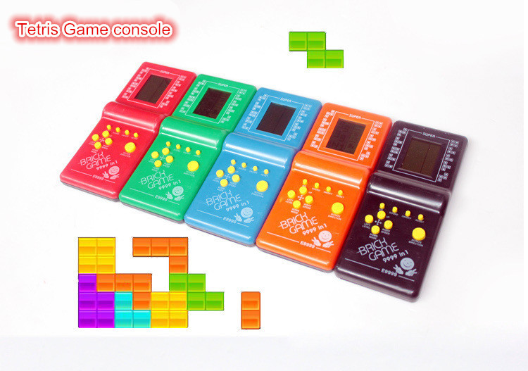 Portable Handled Developmental Children Toys Educational Game Players High Quality Tetris Game console For Kids(China (Mainland))