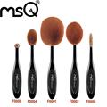 MSQ 10 pcs set Oval Shape Makeup Brush Set MULTIUSO Professional Tooth Brush Foundation Powder Brush