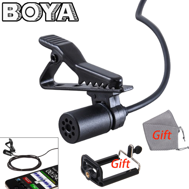 BOYA Lavalier Omnidirectional Condenser Microphone for Canon Nikon Sony,for iPhone 6 Plus DSLR Camcorder & Audio Recorders BY-M1(China (Mainland))