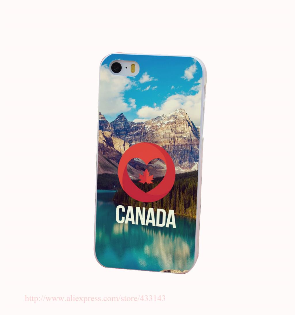 Canada Nature Hard White Cover Case for iPhone 4 4s 5 5s 5c 6 6s Protect Phone Cases(China (Mainland))
