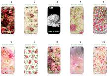 Mobile Phone Cases Wholesale 10pcs/lot Peony Protective White Hard Case For Iphone 6 6th Free Shipping