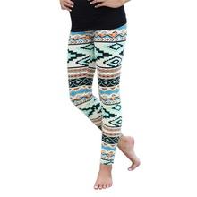 Vintage Women Plus Size Tribal Aztec Print Leggings Multi-Color Long Soft New(China (Mainland))