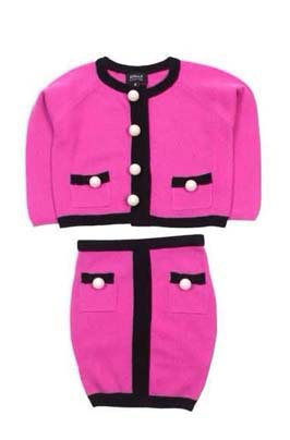 New Fashion Cute Chic Wool Cashmere Rose Cardigan Skirt Sets Baby Girls Kids Sweater Suits Coat Outerwear Chlidren's Clothes(China (Mainland))