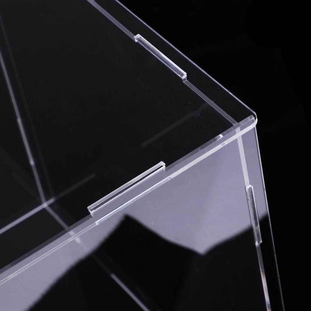 Transparente Acryl Vitrine Fach Staubdicht Storage Show Box 30x20x20cm