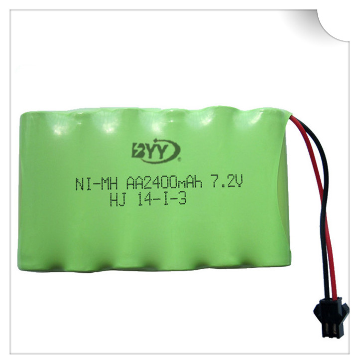 2400mah 7.2v rechargeable battery pack battery nimh 7.2v / aa nimh battery ni-mh 7.2v for Remote control electric toy tool boat(China (Mainland))