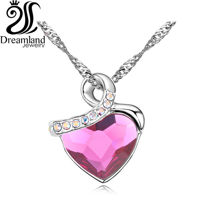 Fairy Dust Fine jewelry Necklace Delicate Shining crystal Platinum plated Necklaces for women Free shipping NE466(China (Mainland))