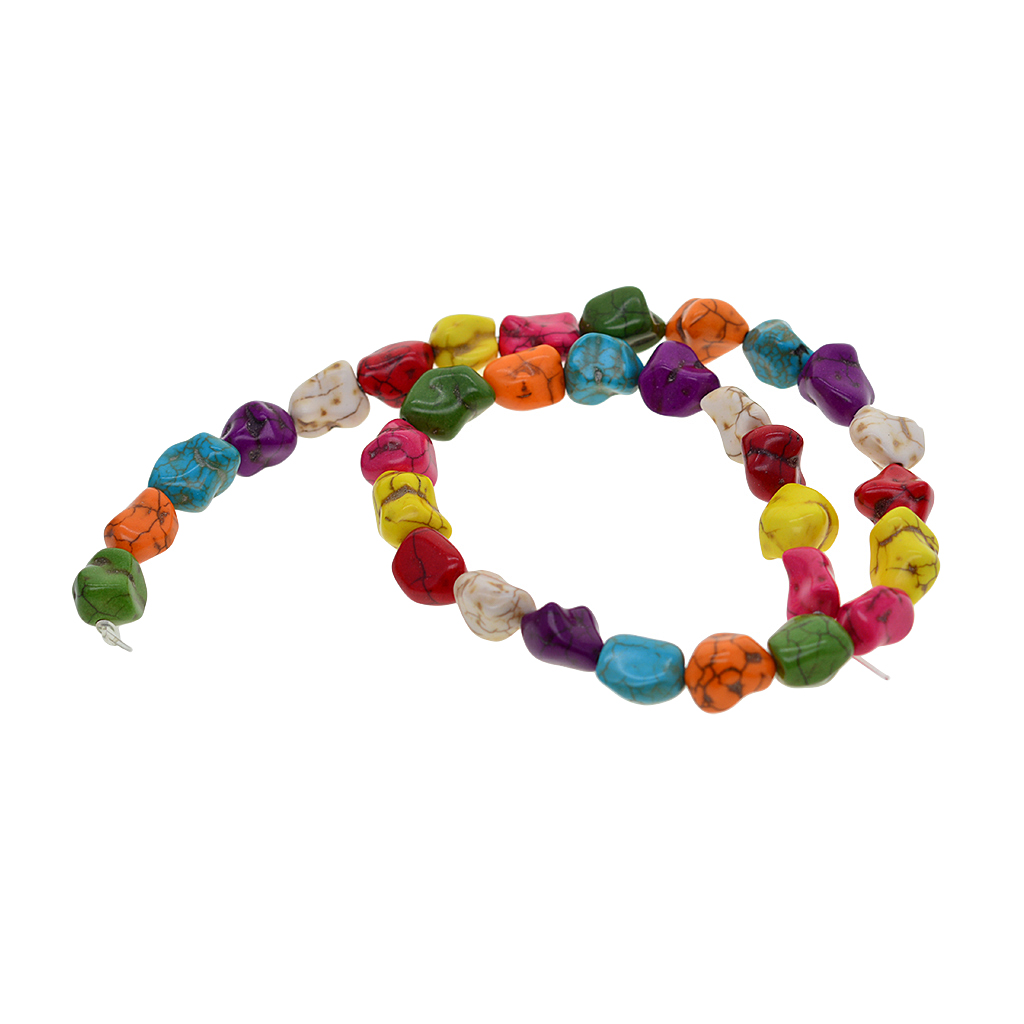 Colorful Tube / Nuggets / Turtle / Cross Natural Stone Beads Charm For Jewelry Making Loose Spacer Beads DIY Necklaces Bracelets