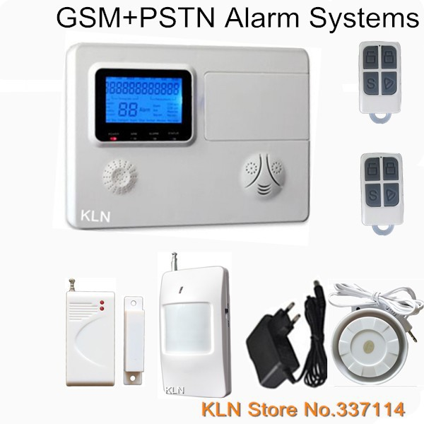 Sim Card and PSTN Gsm Alarm Systems Security Home 99 Wireless+4 Wired support Call /Sms/ Android free Apps Remote Contro.konlen(China (Mainland))