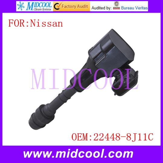 Новый катушка зажигания использования OE no. 22448-8J11C для Nissan
