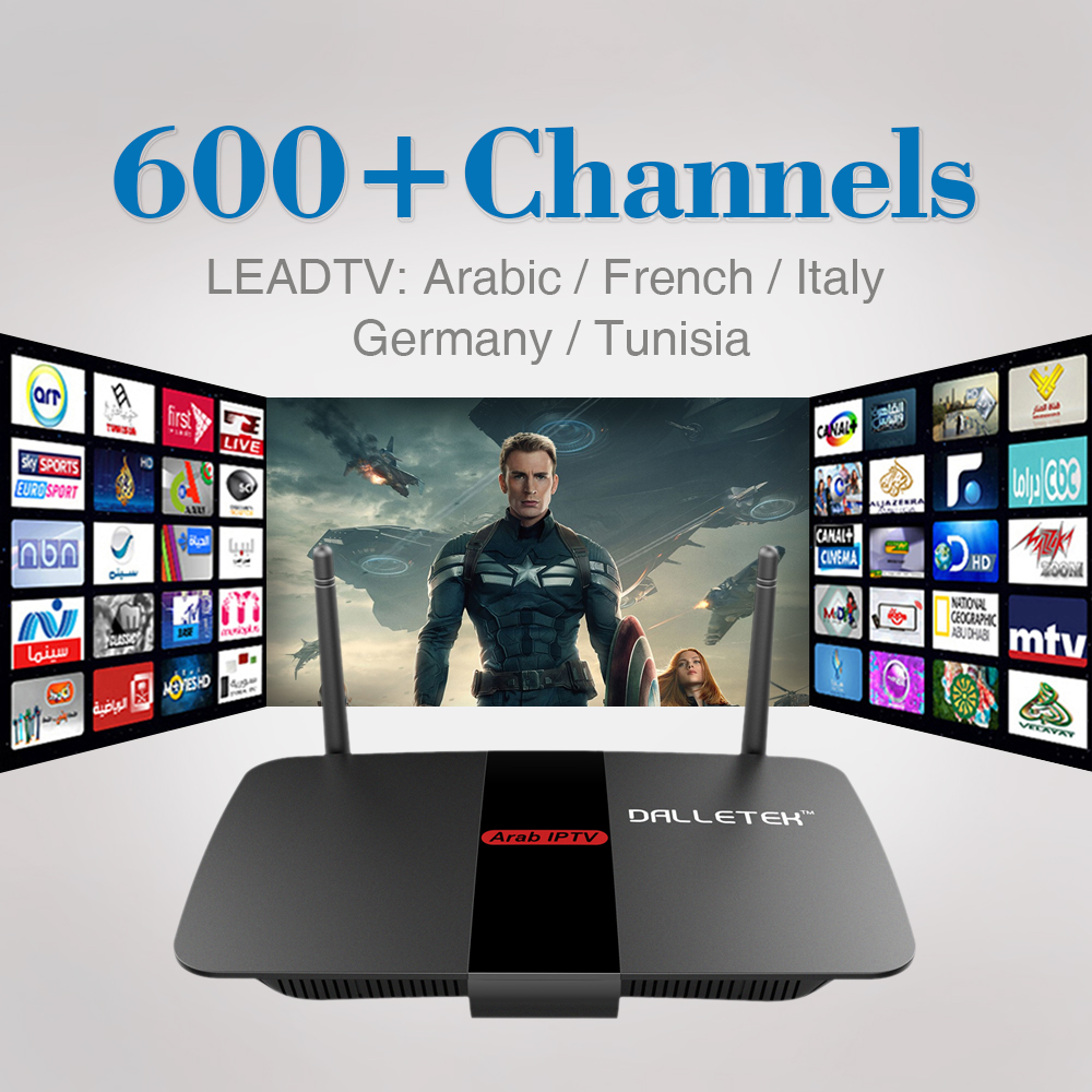 Android TV Box Smart 1G 8G Quad Core 2.4Ghz Wifi 1Year 600+ Free Iptv Account Arabic Europe French Italy IPTV Media Player