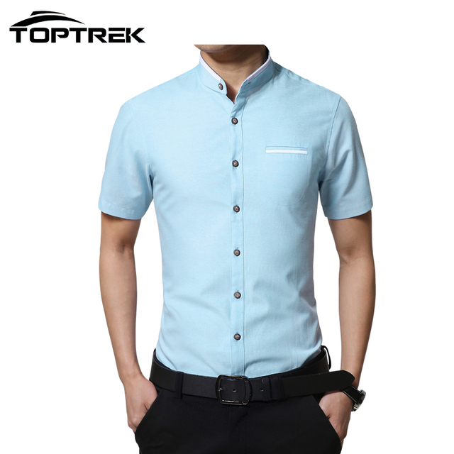 Верхtrek марка - одежда с коротким рукавом мужчины свободного покроя твердые рубашки ...