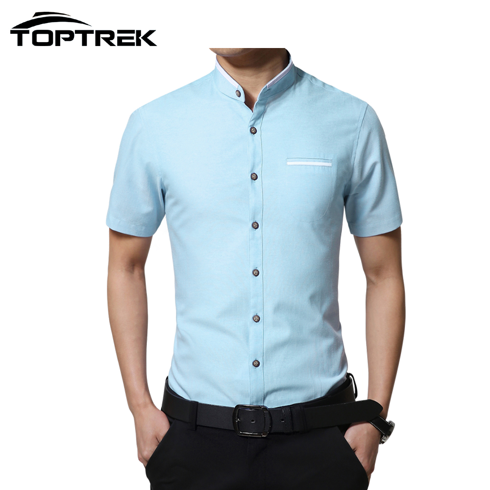 toptrek brand clothing short sleeve men casual solid