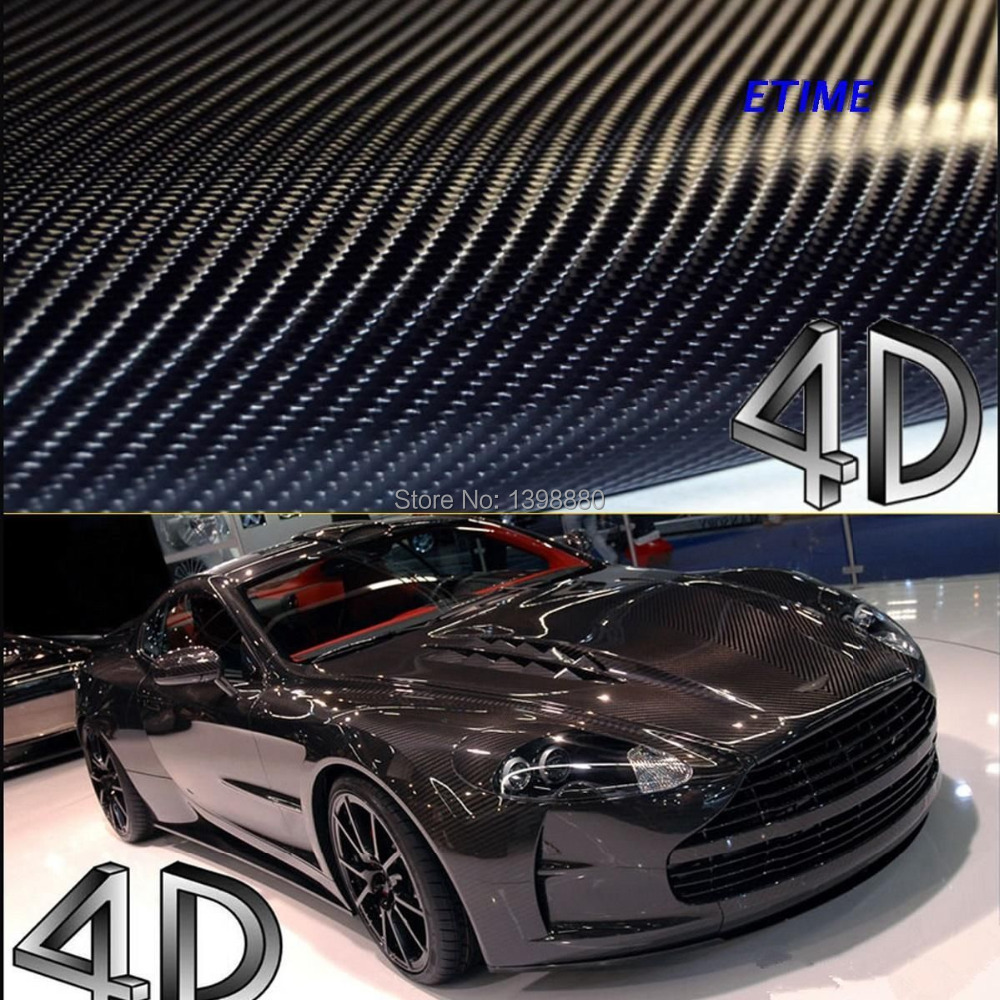 DIY Car Sticker 150mmX1520mm WaterproofCar Styling 4D Thicken 3M Car Carbon Fiber Vinyl Wrapping Film With Retail Packaging(China (Mainland))
