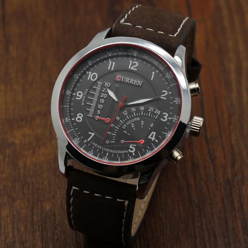 Fashion Curren Business Man Wrist watch Genuine Leather Casual wristwatch Male Relogio Hot reloj de pulsera