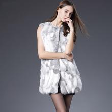 Sexy Fur Vest Women Rabbit Fur Vest Real Fur Coats For Women Winter Autumn Brand Sale Fur Vest Coat Fashion Outwear High Quality(China (Mainland))