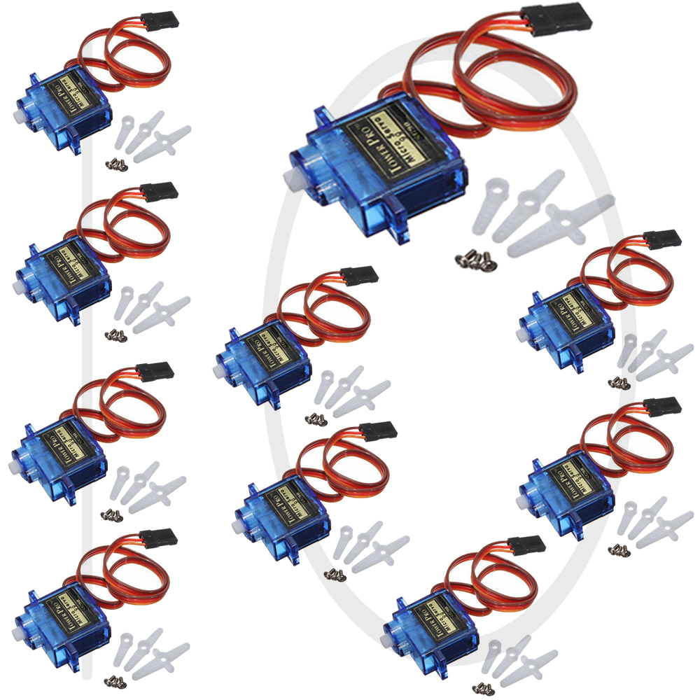 High Qualiry 10x Pcs SG90 Micro Servo Motor TowerPro RC Robot Helicopter Airplane Boat Controls channel rc helicopter controls(China (Mainland))