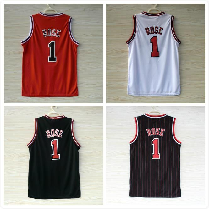 Derrick Rose Jersey Chicago 1 Basketball Jersey, Cheap MESH Red White Black (4 Color) Derrick Rose Jersey Stitched Free Shipping(China (Mainland))