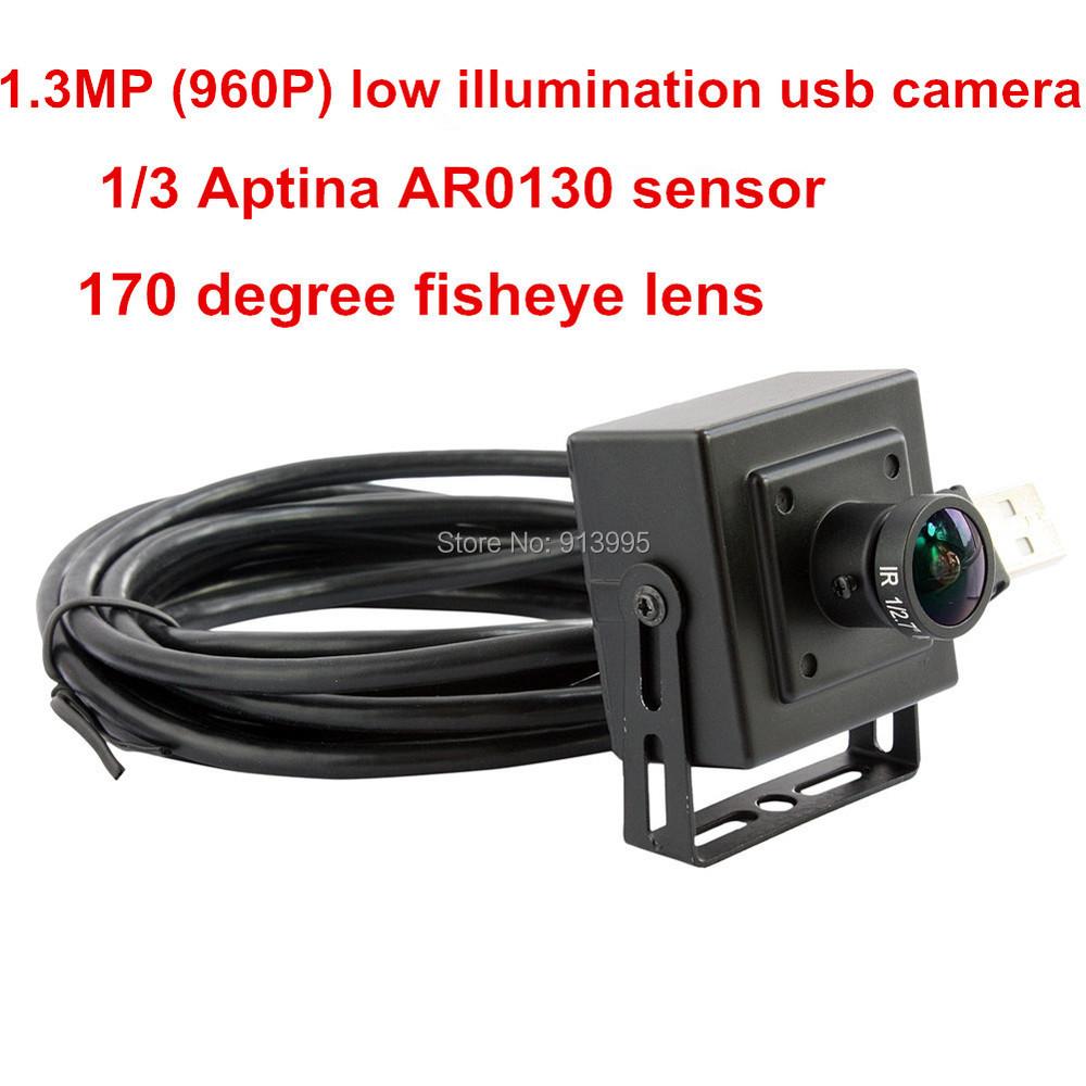 1.3mp low illumination 0.01lux AR0130 1/3 cmos sensor MJPEG UVC usb camera