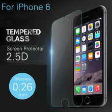 2pcs/lot 9H Hardness Premium Tempered Glass Screen Protector for iPhone 6 Toughened explosion proof film For iPhone 6 4.7inch
