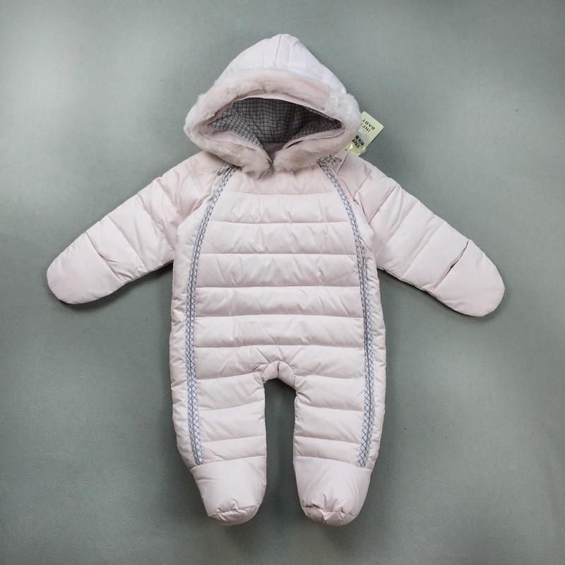 2016 Yüksek Kaliteli aşağı bebek & çocuk kış giyim sıcak giysiler çocuk tulum çocuk bebek giyim parkas uygun 4-24month bebek