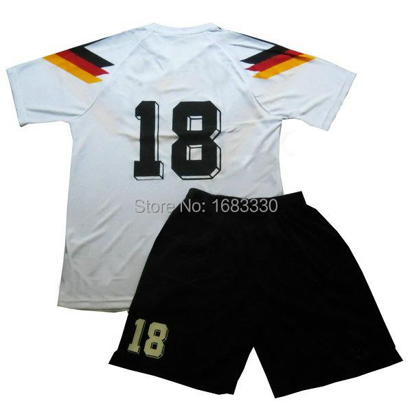 Hot ! Retro Germany Jersey T-shirt 1990 Italian World Cup Champion Home National Team Jersey Football Fans Souvenir(China (Mainland))