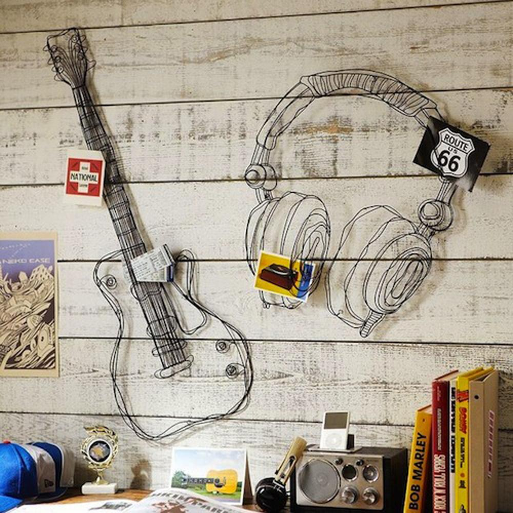 Buy metal wire wall decor art music wall for Deco metal mural