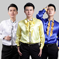 39 44 size men s new men dress the groom s wedding shirt Performance chorus color