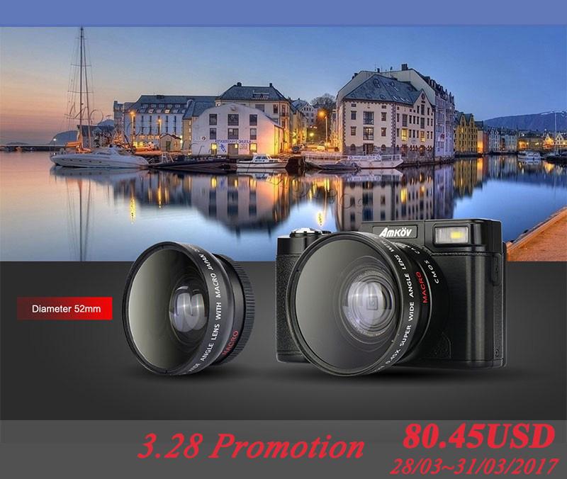AMKOV CDR2 Digital Cameras professional Cameras HD Camcorders DSLR Cameras Wide Angle Telephoto Lens Camara Digital(China (Mainland))