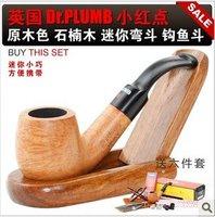Popular Smoking British mini-pipe red dots briar pipe 3MM filter wood color