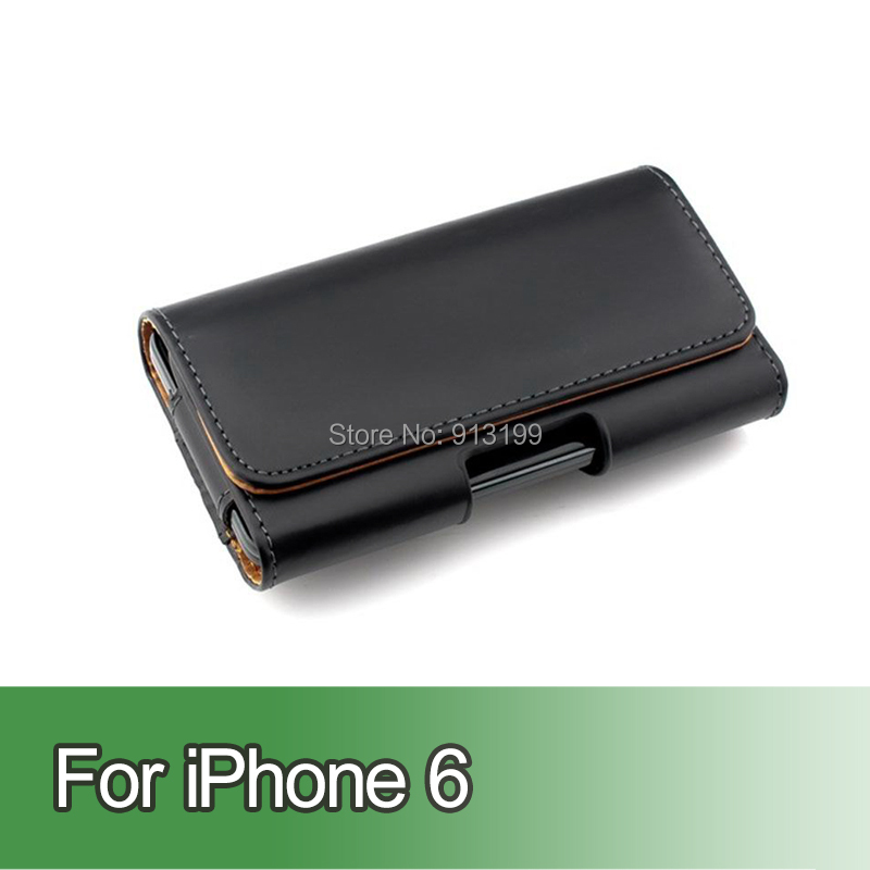 Flip Leather Case Cover Pouch Holster Belt Clip iphone 6 4.7inch Mobile Phone - E-online store