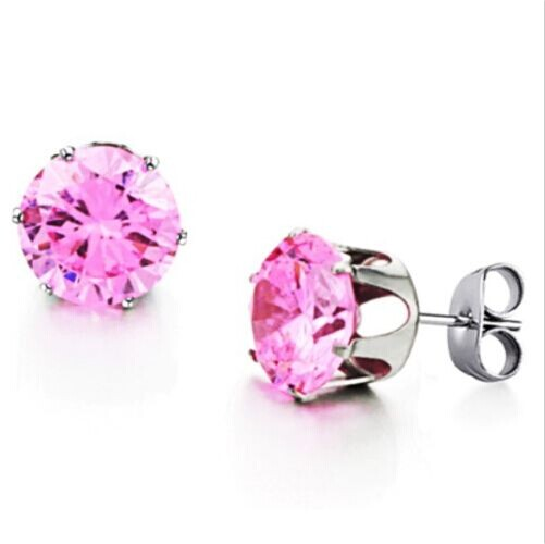Fantastic  Camille Womens Ladies Clear Diamante Heart Silver Plated Stud Earrings