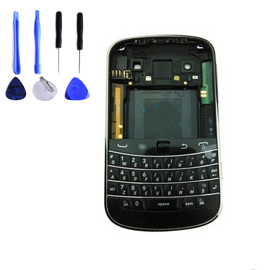 For blackberry bold 9900 Full Housing Case Cover + Keyboard+ Middle Frame + Battery Door + Front Housing Free Shpping+Tools(China (Mainland))
