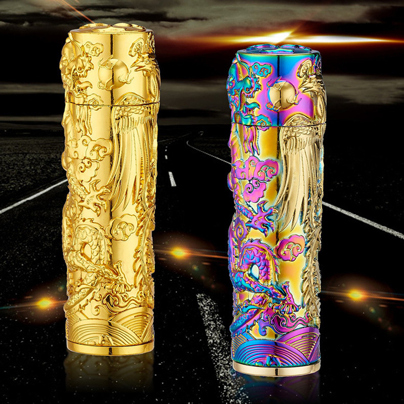 Electric Usb Charging Arc Cigarette Lighter Plasma Creative Design Dragon and Phoenix Style Windproof Pulse Lighter Gifts Box(China (Mainland))