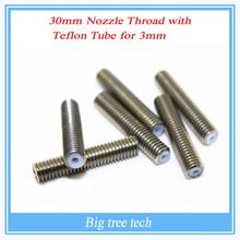 RepRap 3D Printer M6*30mm barrels printer nozzle throat with Teflon tube 1.75mm
