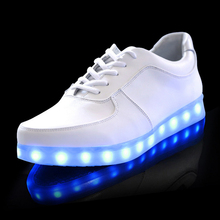 7 Colors LED luminous shoes unisex led sneakers men & women sneakers USB charging light led shoes for adults led shoes(China (Mainland))