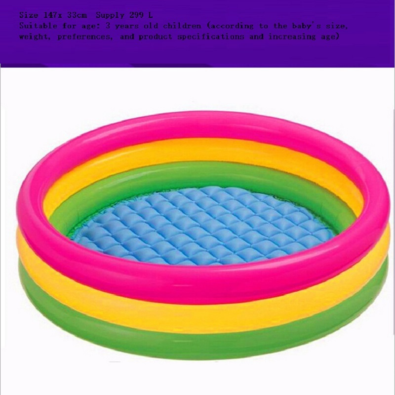 Intex Baby Inflatable Fluorescent Tricyclic Swimming Pool Kids Piscina big Size for Choose<br><br>Aliexpress