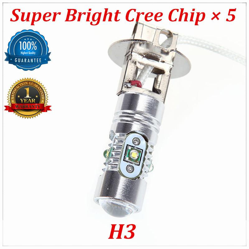 2014 New Products 2 PCS Parking H3 Super Bright Cree Chip x5 DC 12-24V LED Fog Lights Auto Led Lamp Car Light Source(China (Mainland))