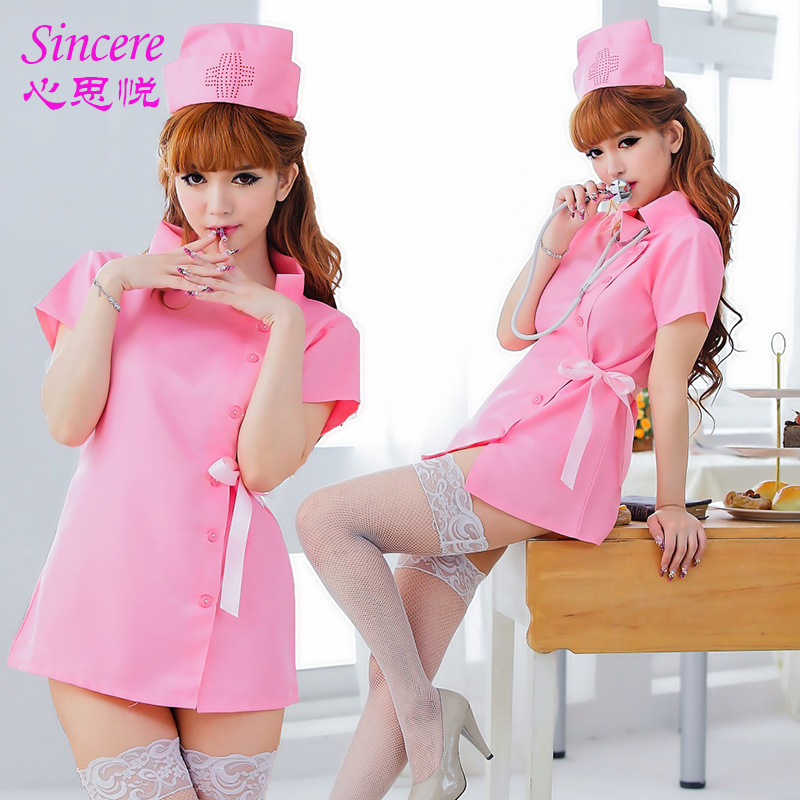 Ladies' Sexy Lingerie Sexy Pink Fantasia Nurse Costumes Girl Cute Uniform Generous And Simple Suit Game Uniforms Temptation(China (Mainland))