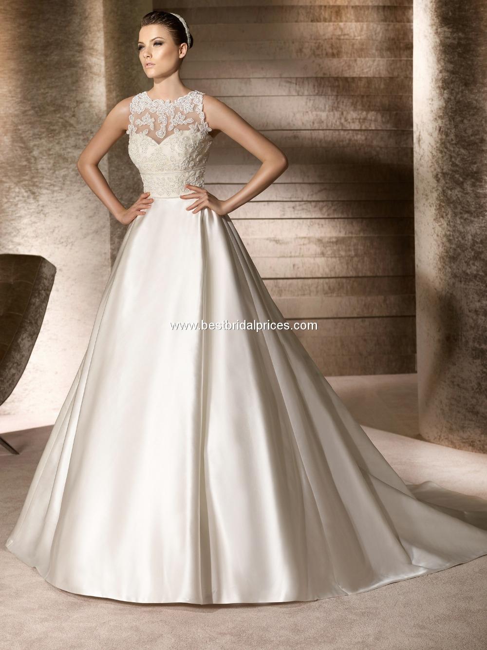 2016 New Arrival A line Royal Satin Elegant Wedding dress Tank Beading Generous Floor length Sweep(China (Mainland))