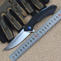 New Tactical Folding Knife D2 Blade G10 Handle Blue Moon Outdoor Survival Camp hunt utility Knife