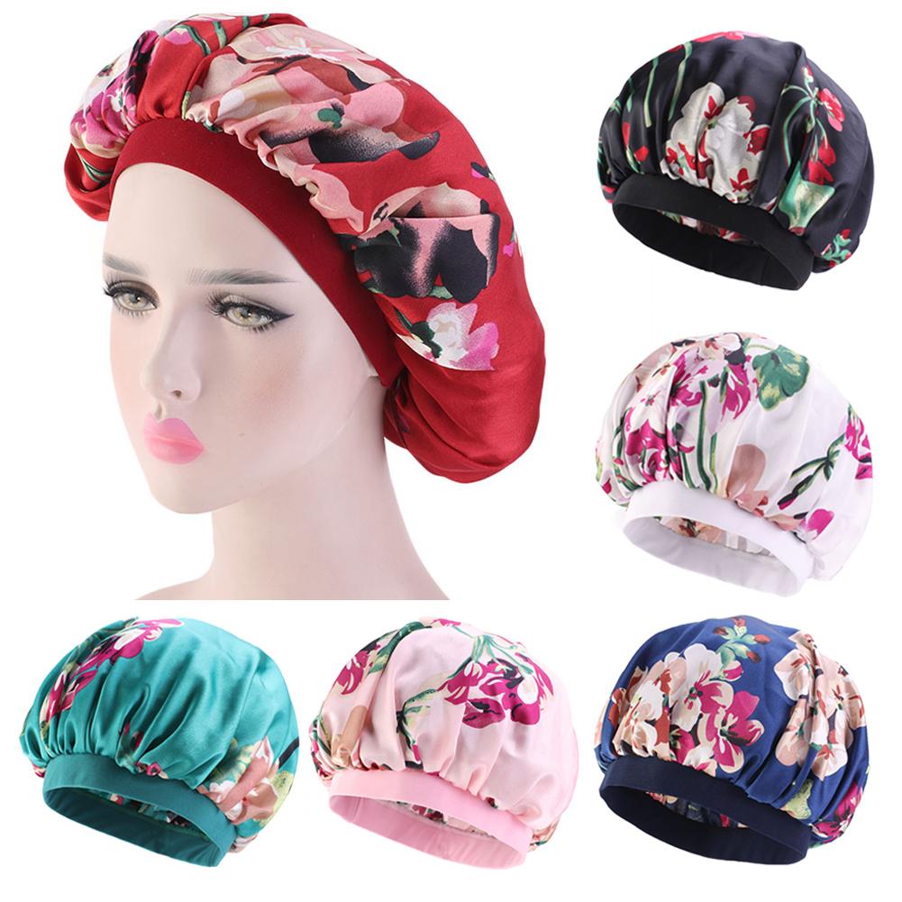 Bonnet Cap Hat Hair Head Cover Wide Band Adjust Elastic Accessory Beauty Fashion