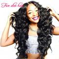 Brazilian Wavy Lace Front wig for black women 150 density Silk Top Full Lace virgin Brazilian