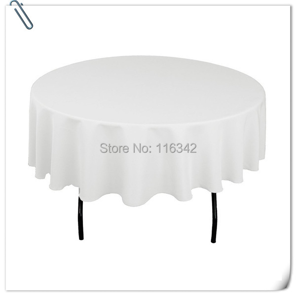 """Wholesale polyester 10pcs 90"""" Round WHITE Tablecloth Wedding Party Banquet Table Decorations Table Cloths Free Shipping(China (Mainland))"""