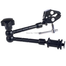 2PCS/1set 2in1 11″ Inch Articulating Magic Arm + Super Clamp Crab Clip  for camera camcorder lcd monitor led flash light