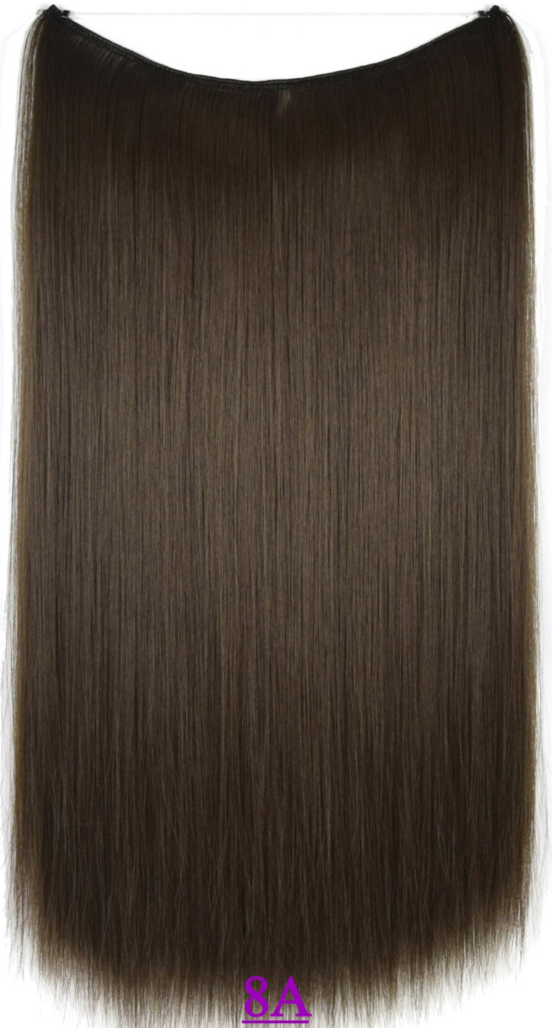 22 (55cm) 100g Straight Flip in hair extension hairpiece hair pieces Color Color #8A medium ash brown<br><br>Aliexpress