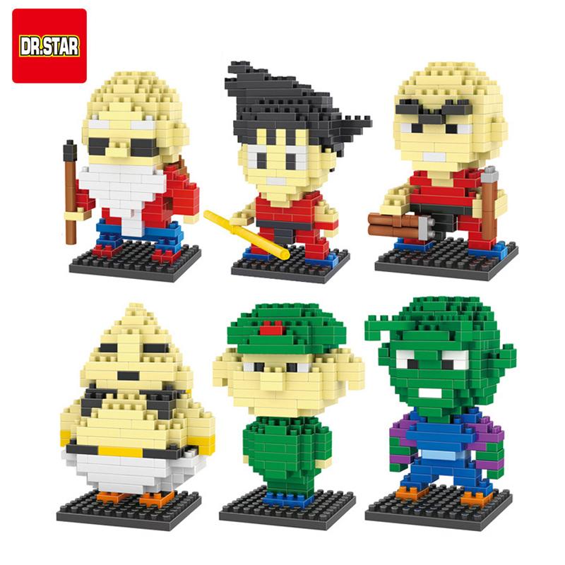 10 Style Dragon Ball Z Toy Building Block Action Figures Son Goku Piccolo Vegeta Frieza Anime Toy Oolong Master Roshi Karrin(China (Mainland))