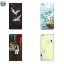 Phone Case Huawei P8/P8 P9 Lite Plus G9 Shell Honor 5C 7 7I Back Cover Mate 8 Cellphone Cranes Design Painted - WISAPI Store store